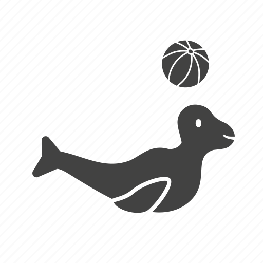 art, circus, dolphin, performance, sea dog, show icon