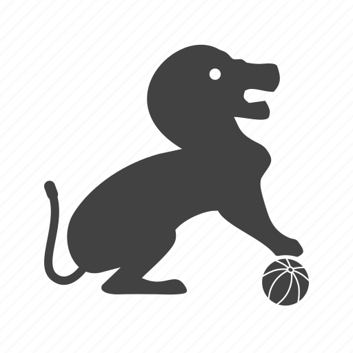 cartoon, circus, jumping, lion, show, stage, whip icon