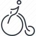 carnival, circus, cyclist, entertainment, fun, performance, tent icon