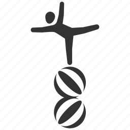 acrobat, balance, circus, funambulist, gymnast, performance, show icon