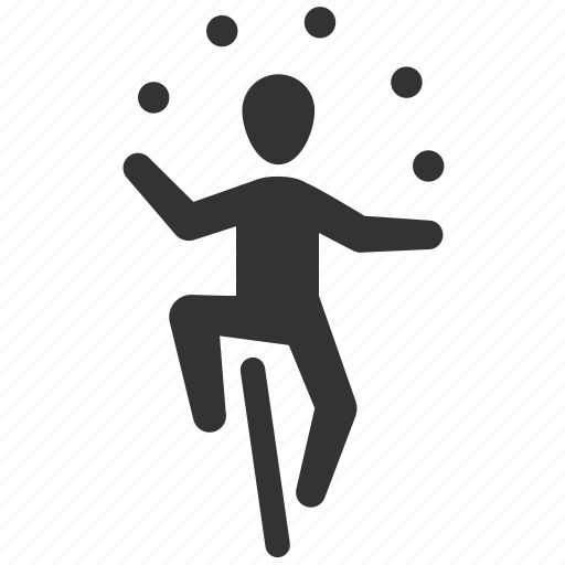 circus, entertainment, juggler, juggling, performer, show, special event icon
