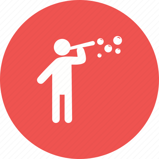 blowing, bubble, bubbles, making, man, soap, water icon
