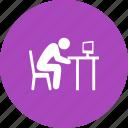exhausted, job, lazy, sleepiness, sleepy, tired, worker icon
