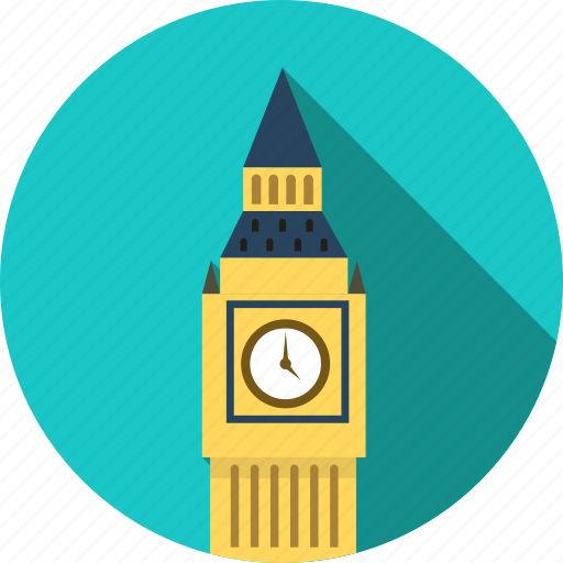 architecture, big ben clock, city, england, house, london, villa icon