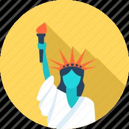 americas, city, liberties, new york, travel, u.s icon
