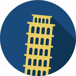 city, italia, italic tower pisa, pisa, travel icon