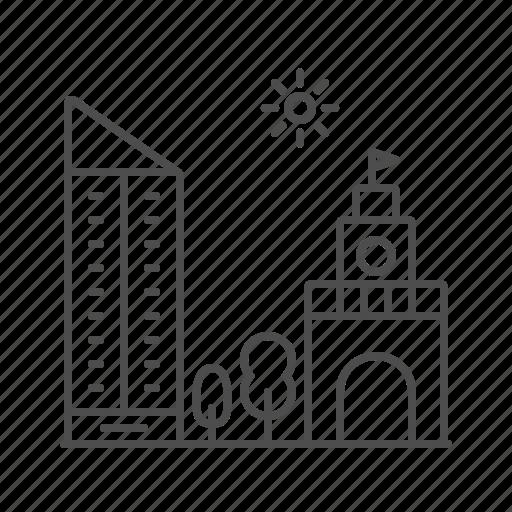 apartement, architecture, building, landscape, skycraper icon