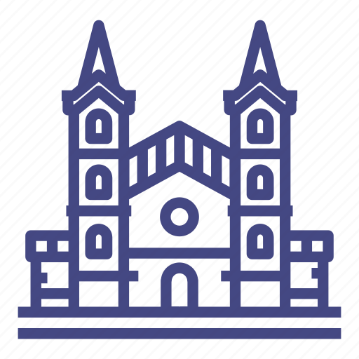 architecture, building, cathedral, church, city, historical, house icon