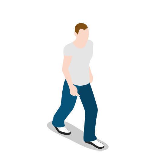 human, male, man, people, person, user, walking icon