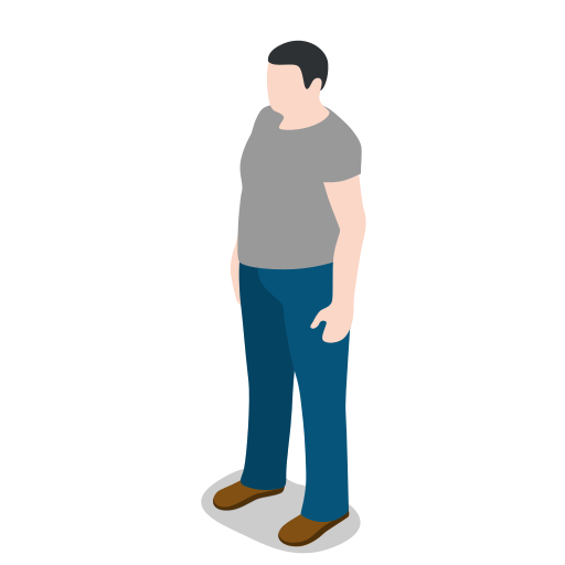 avatar, male, man, people, person, profile, standing, user icon
