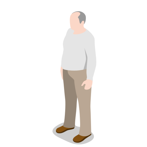 human, male, man, oldman, people, person, standing, user icon