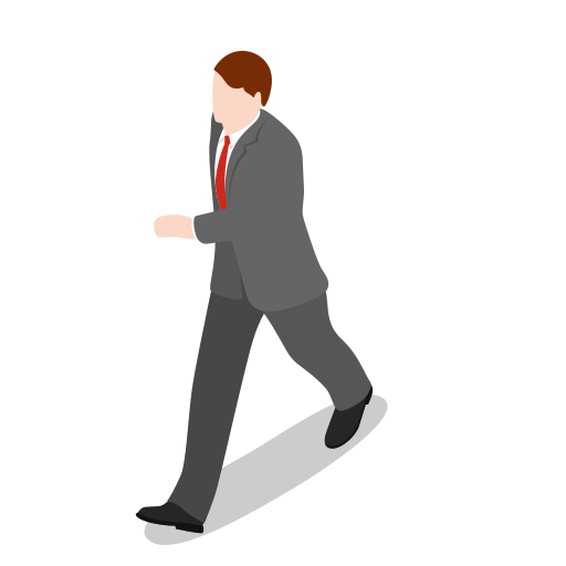business, businessman, male, man, office, people, user, walking icon