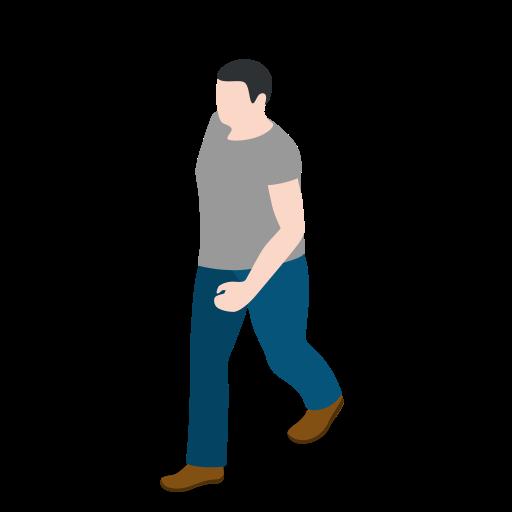 human, male, man, people, person, user, walking icon