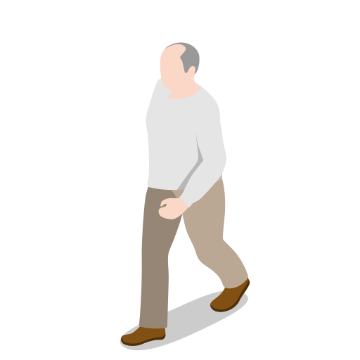 avatar, human, male, man, oldman, people, person, user, walking icon