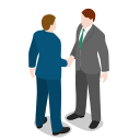 businessman, male, man, meeting, people, standing icon