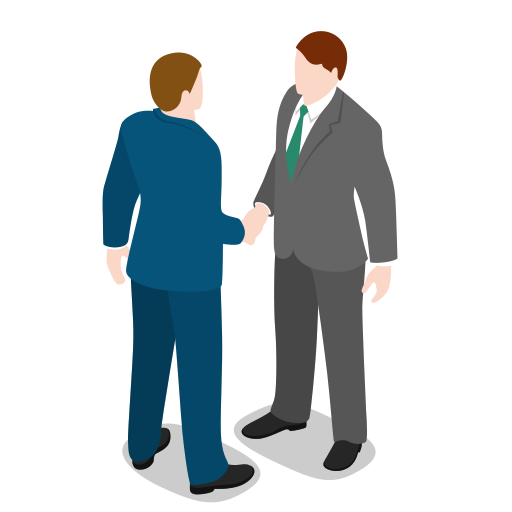 business, businessman, finance, male, man, meeting, people, standing icon