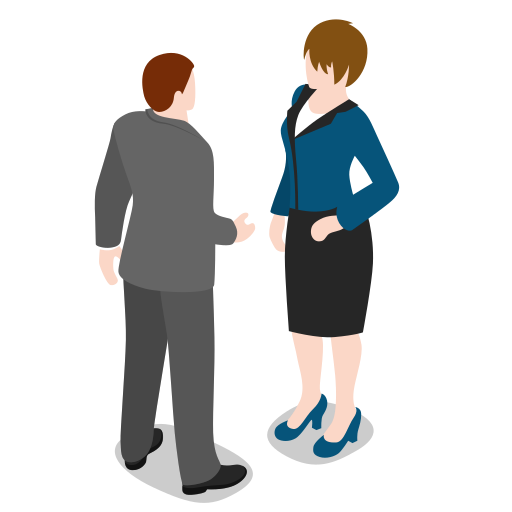 business, businessman, businesswoman, group, human, meeting, pair, people, person icon