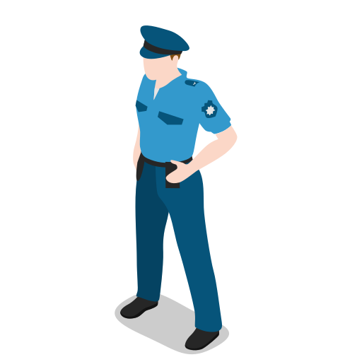 avatar, human, male, man, people, person, policeman, standing, user icon