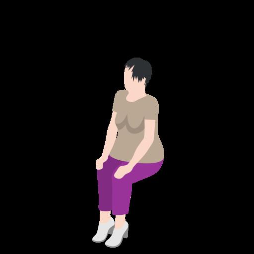 Female, sitting, woman, human, user icon - Free download