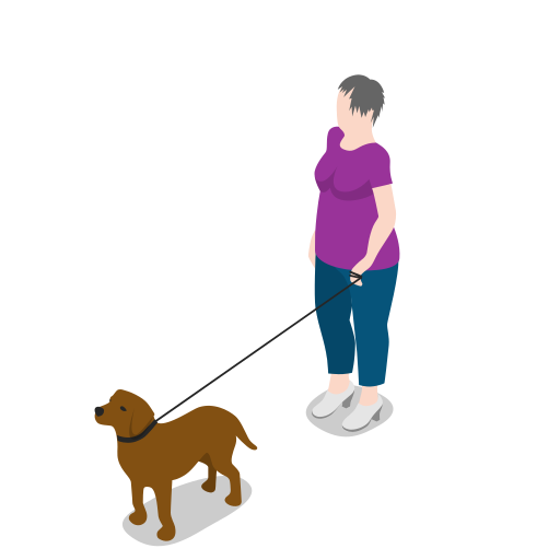 avatar, dog, female, human, people, person, standing, user, woman icon