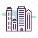 architecture, building, city, house, skyscraper icon