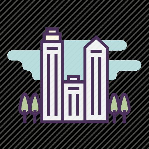 architecture, building, city, house, skyscraper icon