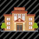 academy institute, building, educational building, school, school infrastructure icon