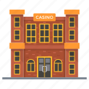 betting house, casino, clubhouse, gambling club, gaming house icon