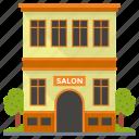 barbershop, beauty parlor, beauty salon, hair salon, lounge, parlour icon