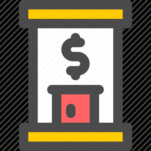 atm, bank, cash, finance, money icon