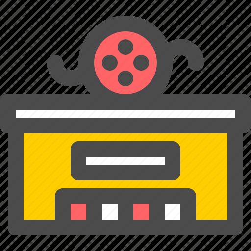 building, cinema, film, movie, video icon
