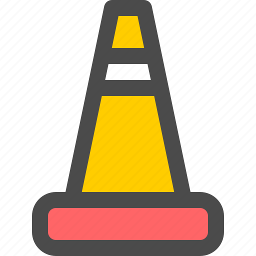 barrier, cone, construction, road, street icon