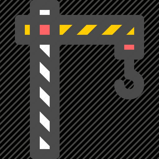 construction, crane, industry, lifting, machine icon