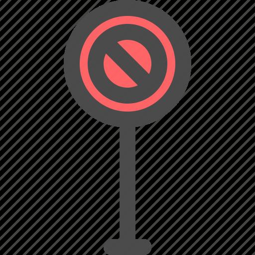 no, road, sign, traffic, urban icon