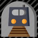 metro, railway, subway, train, transport, transportation, travel icon