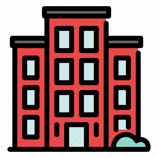 building, business, city, financial, hotel, office, tower icon