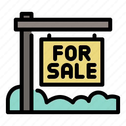 business, city, for sale, real estate, sign icon