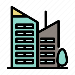 building, business, city, financial, office, tower icon