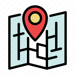location, map, marker, pin, place, pointer icon