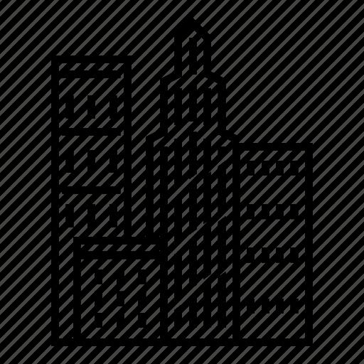 big city, buildings, city, city building, landscape, skyscraper, town icon