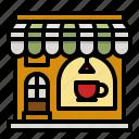 cafe, coffee, shop, drink, food