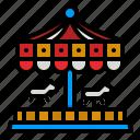 carousel, amusement, park, fairground, carnival