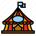 circus, tent, amusement, park, entertainment