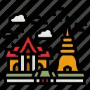 temple, thailand, asia, landmark, monument