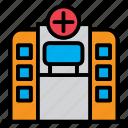 clinic, emergency, health, healthcare, hospital, medical icon