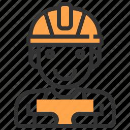 construction, labour, man, worker icon