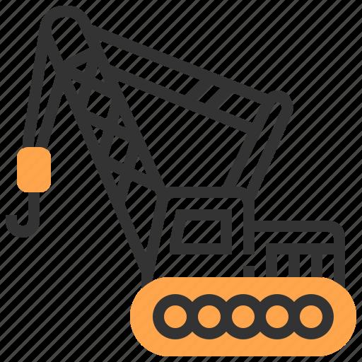Car, crane, construction, transportation icon