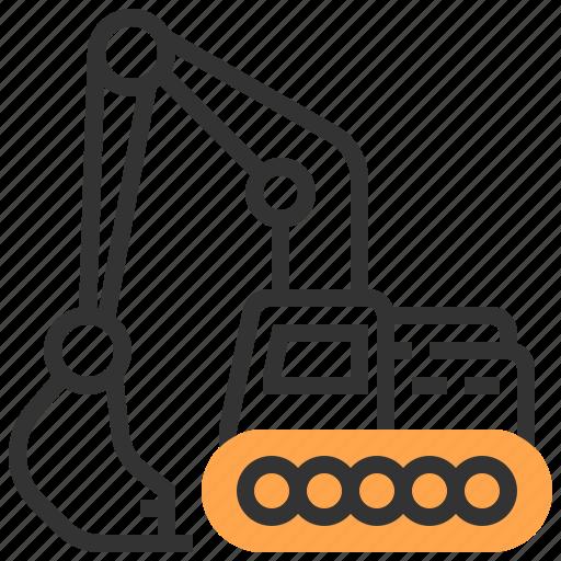 car, construction, excavator, transportation icon