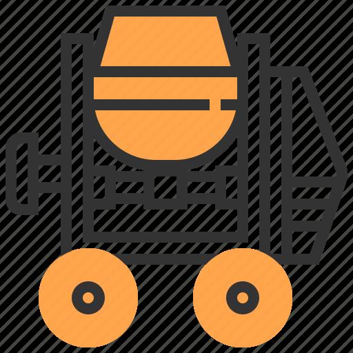 Car, concrete, construction, mixer icon - Download on Iconfinder
