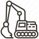 car, construction, excavator, transportation